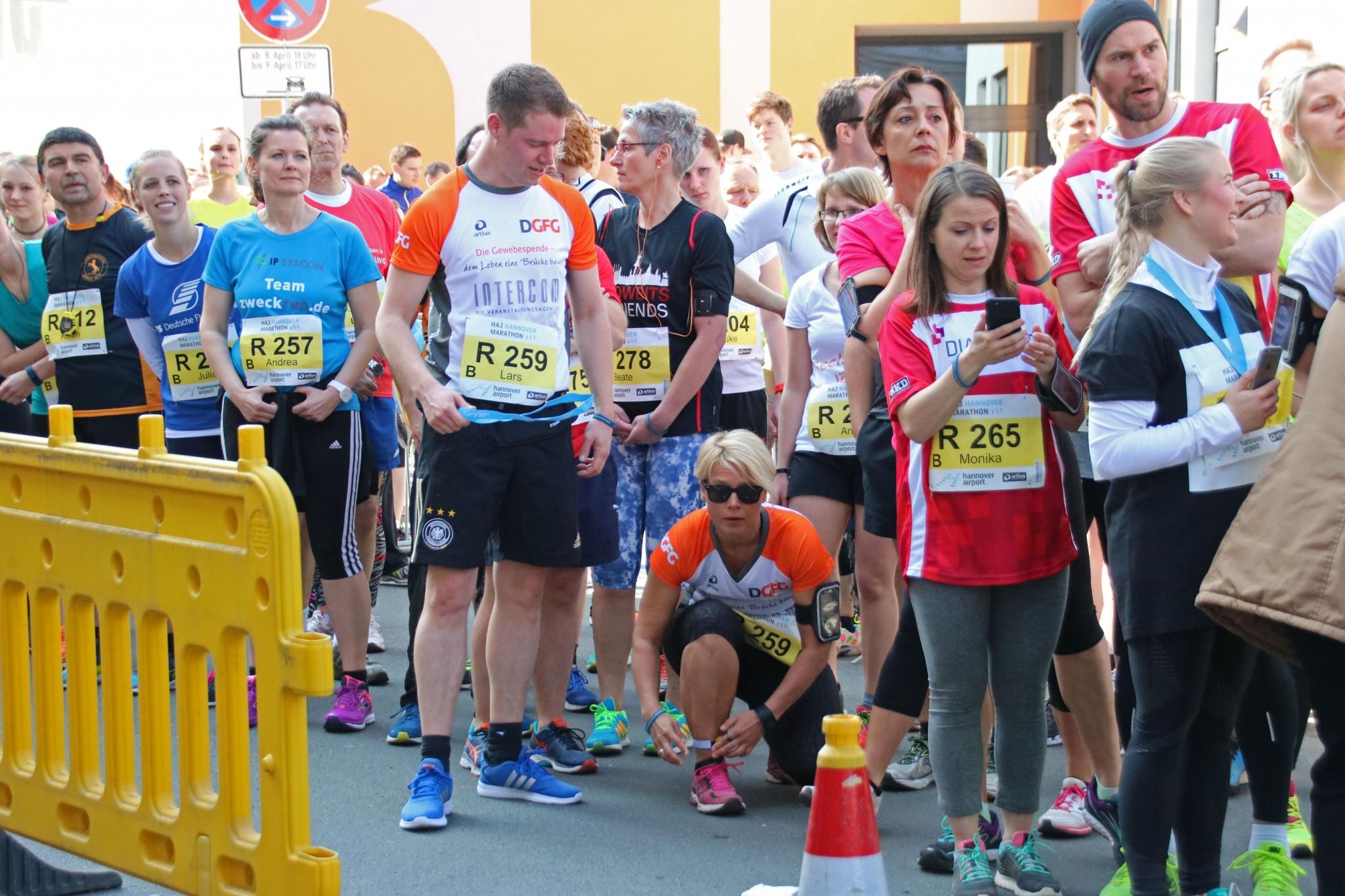 Staffellauf Spende Hannover MArathon Gewebespende DGFG