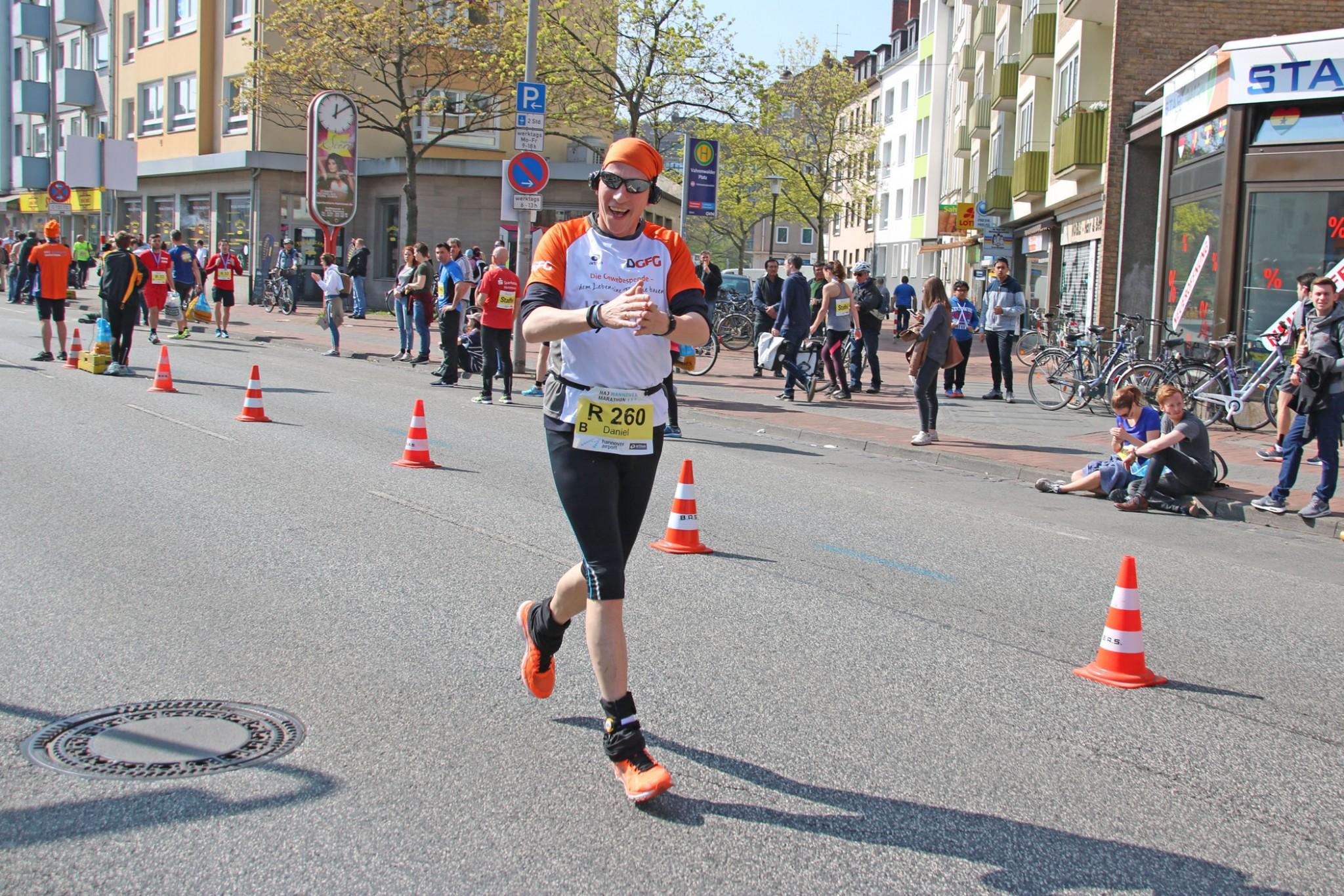 Staffellauf Hannover Marathon Gewebespende DGFG